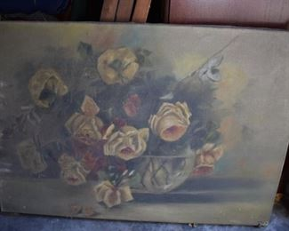 Antique Oil Painting still covered with dust