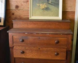 Antique 3 Drawer Chest and Still Life portrait