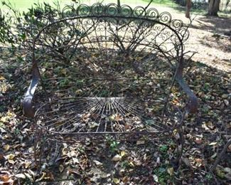Vintage/Antique Art Iron Yard Furniture including this lovely Love Seat!