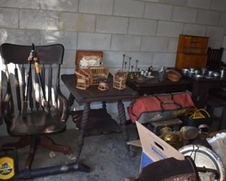 Antique Office Chair, loads of Collectibles and More!!!