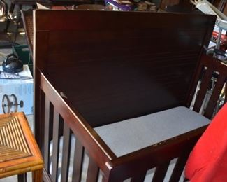 Large Antique Child's Crib
