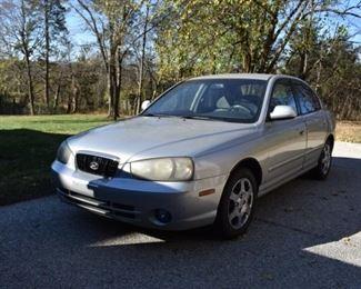 2001 Hyundai Elantra VIN # KMHDN45D71U153132, 250K+ miles.
