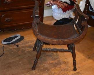Antique U-Shaped Chair