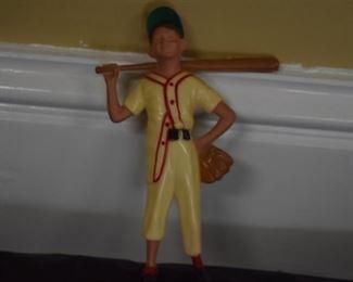 Celluloid Baseball Player Figurine