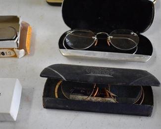 Antique wire framed eye glasses