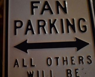 Metal Titans Fan Parking Sign
