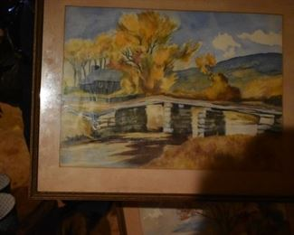 Beautiful Water Color or Pastel Painting