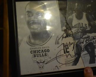 Signed Picture by Chicago Bulls NBA Player Charles Davis.