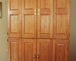 Handsome oak computer desk / armoire closed $400.0