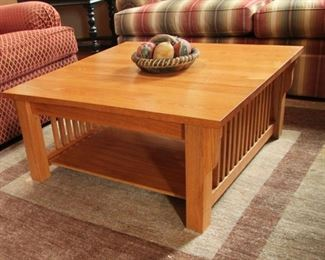 """Oak coffee Table matches table chairs & comp armoire 36"""" by 36""""  $75.00"""
