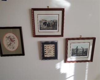 Variety of pictures...two prints by JF Millet..presale $15 each