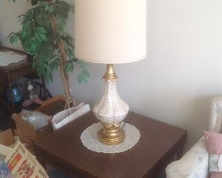 "End table is 30"" square and lamp is 44"" tall .  Presale...each $30"
