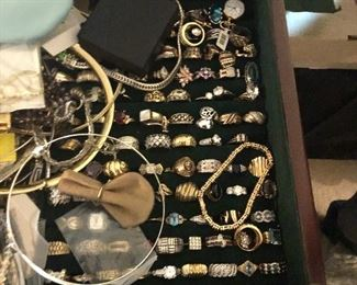 Just a sample of the 10,14, 18 kt gold..rings, bracelets and necklaces. First quality!