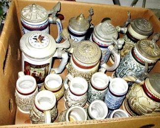 Avon Collectible Steins...probably close to 100 of them all over the place