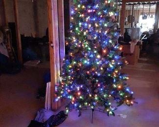 8ft pre lit Christmas tree