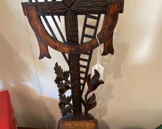 $58.00 Carved wood