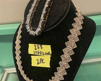 Sterling art deco necklace