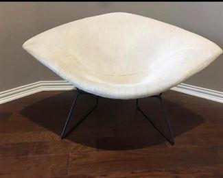 Authentic Mid Century Diamond Knoll Chair.         Bid starts  $1200.00.