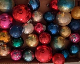 Assorted Vintage Christmas Ornaments Including Shiny Brite