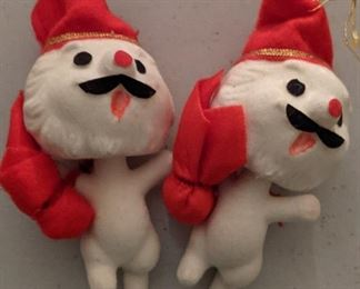 Vintage Velvet Christmas Ornaments