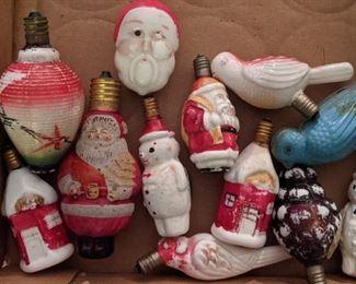 Vintage Figural Christmas Light Bulbs