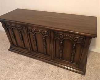Vintage wood buffet server $110