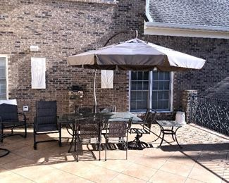 There are two patio sets. This set has