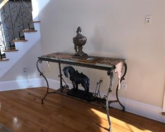 Forged Iron console table