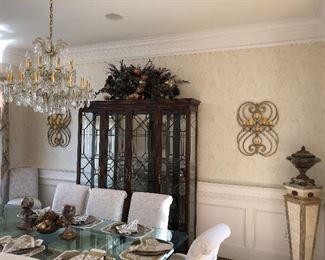Beautiful Chippendale fretwork glass China cabinet