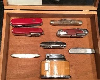 Pocket knives, lighters