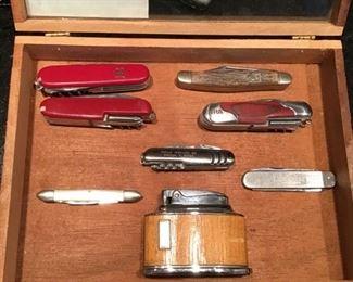 Pocket knives, lighters
