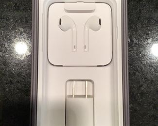 Apple white earbuds, new in box