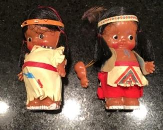 Vintage Native American dolls