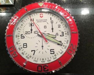 Victorinox Swiss Army wall clock, 14 in. Diameter