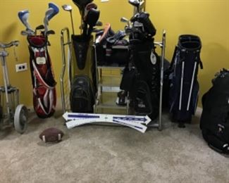 Golf clubs, bags, balls and more!