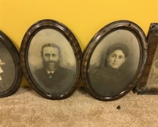 Antique family portraits