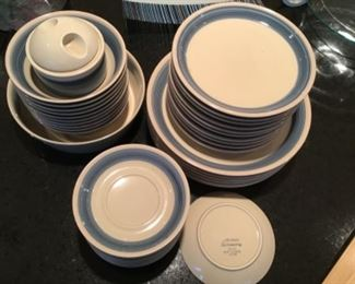Mikasa Blue Thunder plates and bowls