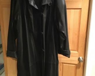 Vera Pelle full length leather jacket