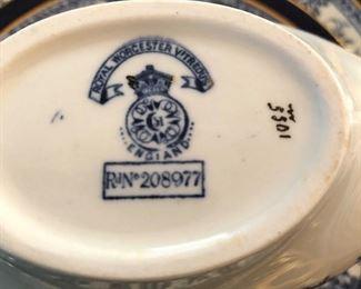 Royal Worcester Antique China Set