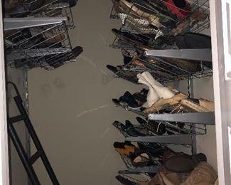 2 closets of designer shoes