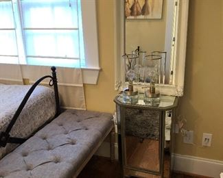 mirrored night stand.  We have three of theses
