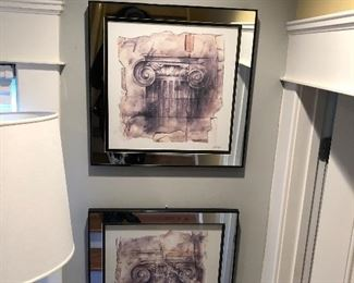 Mirrored framed pictures