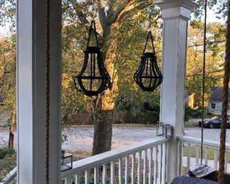 wood beaded hanging lanterns