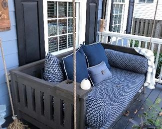 pair of Porch Swings and cushions