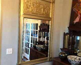 large vintage Trumeau mirror