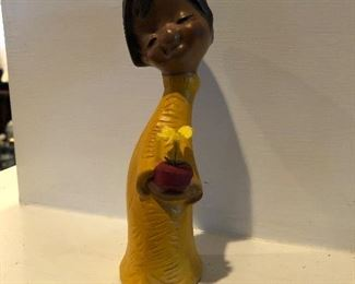 Vintage brown girl figurine