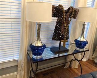 modern cobalt lamps