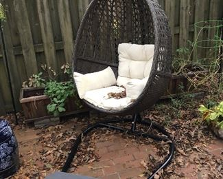 Cayuse hanging egg wicker chair