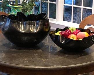 large artistic decorative fruit bowls