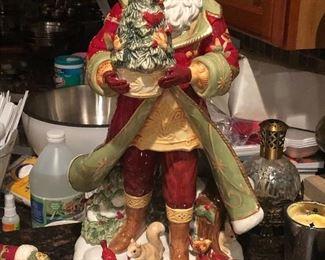 Large porcelain Santa Statue